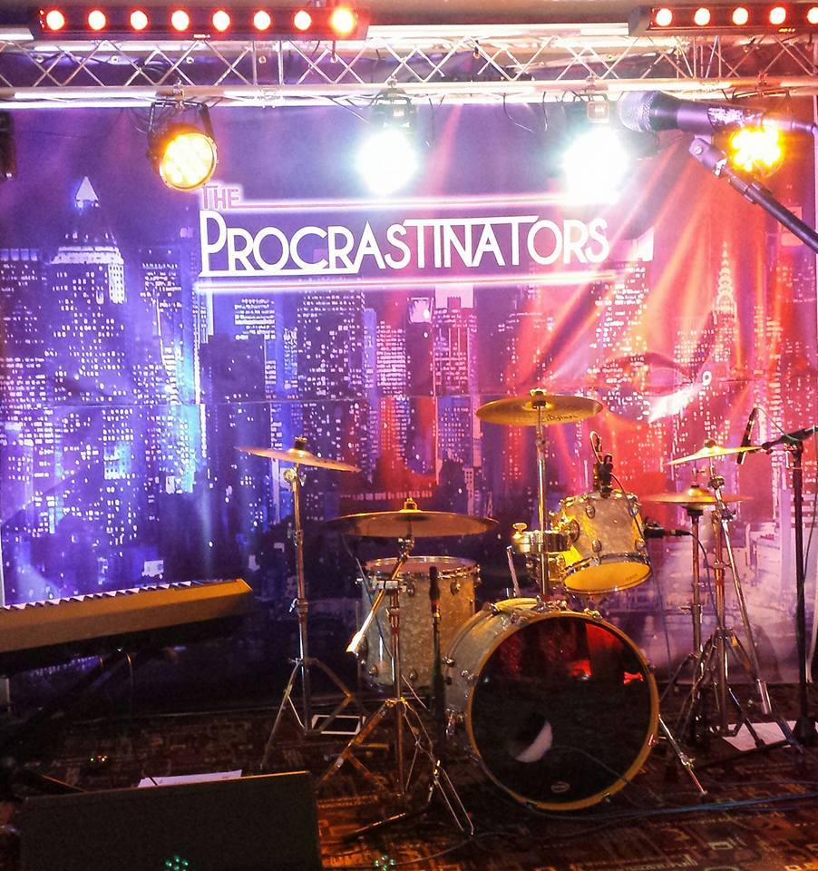 Lighting with band backdrop from Hilltop Graphics